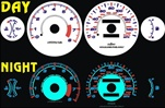 Dodge Avenger 140 MPH With Oil 1995-1999 Halo Style Illumiglo Gauges
