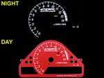 Honda CBR 1000RR 2006-2007 Red Color Face Reverse Style Illumiglo Gauges (SRP1062)
