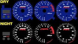 Honda CBR 900 RR 1998-1999 Illumiglo Gauges 98 99 900rr cbr900 glow Blue face el reverse color KM/H & MPH
