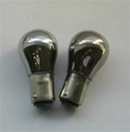 Chrome Coated Amber Bulbs 1156 1157