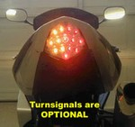 Suzuki GSXR 1000 2003-2004 LED Smoked Lens Taillight with INTEGRATED Turnsignals