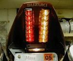 Suzuki SV-1000 2003-2006 LED Clear Lens Taillight with INTEGRATED Turnsignals