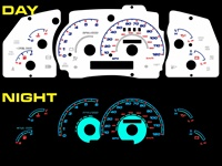 Ford Explorer 1998-2001 Halo Reverse Style Illumiglo Gauge 98 99 00 1999 2000