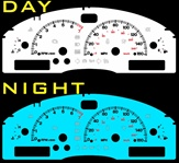 Lincoln LS 2000-2002  2-Color Style Illumiglo Gauges