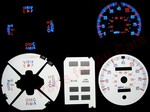 Ford Bronco II No Tach 1983-1988 Reverse Style Illumiglo Gauges 1984 1985 1986 1987 83 84 85 86 87 88 glow
