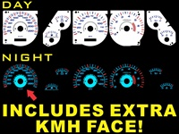 Jeep Grand Cherokee 1996-1998 Halo Reverse Style Illumiglo Gauges 96 97 98 glow