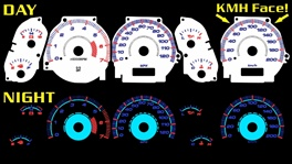 Jeep Grand Cherokee 2002-2004 Halo Reverse Style Illumiglo Gauges 2003 02 03 04 glow