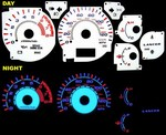 Mitsubishi Lancer OZ 2002-2004 Halo Style Illumiglo Gauges