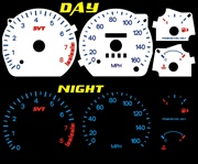 Ford Contour SVT 1998-2000 Reverse Style Illumiglo gauges 98 99 00 1998 1999 2000 glow
