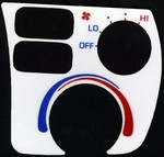 Toyota Celica 1990-1993 White Face AC Panel