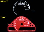 Honda CBR 1000RR 2004-2005 Red Color Face Reverse Style Illumiglo Gauges