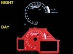 Honda CBR 600RR 2003-2006 Red Color Face Reverse Style Illumiglo Gauges