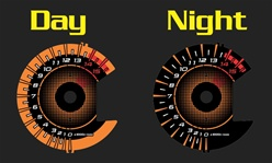 Suzuki GSXR 1000 2009-2012 Orange & Black Face Reverse Style Illumiglo Gauges gsxr1000 09 10 11 12 2010 2011